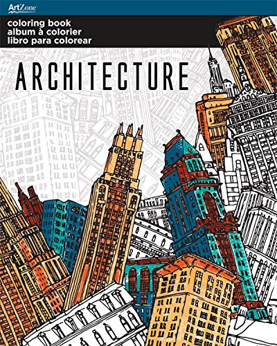 trends international adult coloring book architecture designs