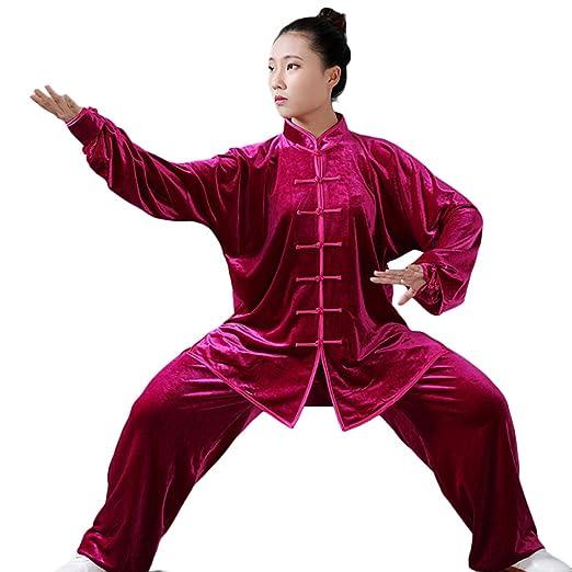 Uniforme de Tai Chi Traje de Kung Fu Conjunto para Qi Gong, Artes ...