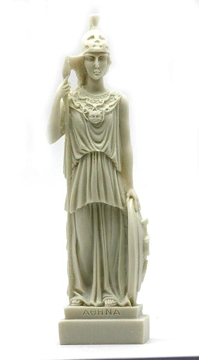 Romana Griega diosa ATENEA Minerva alabastro Estatua Figura Escultura 7.48 ΄ ΄