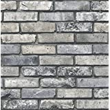 Brewster Wallcovering Co FD23288 Painted Brick Grey Brick Wallpaper,