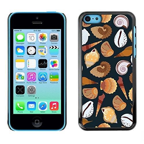 Premio Sottile Slim Cassa Custodia Case Cover Shell // V00002030 motif de coquillages // Apple iPhone 5C