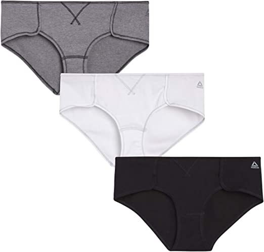 Reebok - Bragas de algodón para mujer (3 unidades): Amazon.es: Ropa y accesorios