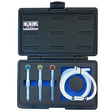 Amazon.es: Ajuste Herramientas Mini 8, 10, 12 mm manguera de aceite embrague purgador de freno con llave y válvula de retención