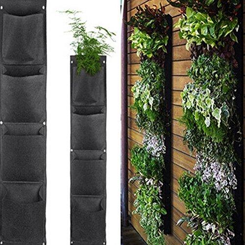 Aquarius CiCi Eco-friendly Plants Wall Hanging Bag Decoration Flower Growing Pockets Garden Pot Basket Felt Cloth Holder Organizer