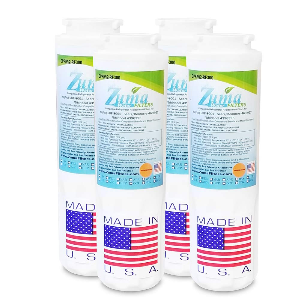 (4-Pack) - Maytag UKF8001AXX-200 Compatible Refrigerator Water and Ice Filter by Zuma Filters (OPFM2)