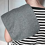 Burp Cloths for Babies, Grey Black and White