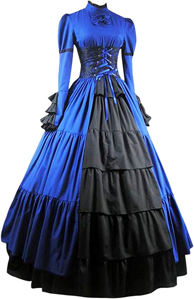 Forthery Women Gothic Victorian Dress Women's Rococo Ball Gown Gothic Victorian Dress Costume