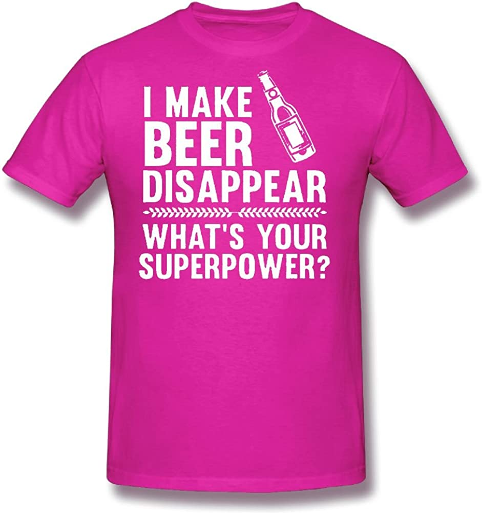 Whats Your Superpower? Crazy Bros Tees I Make Beer Disappear Funny Mens T-Shirt