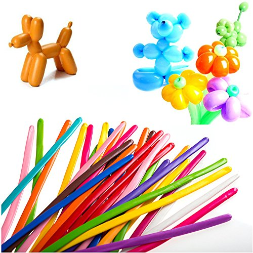 U-Star 200 PCS Latex Twisting Balloons 260Q Magic Balloons Assorted Color Long Balloons for Animal Shape Party, Birthdays, Clowns, Weddings Decorations