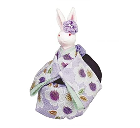 Cuzit Sweet Rabbits Music Box Toy Japanese Kimono Style