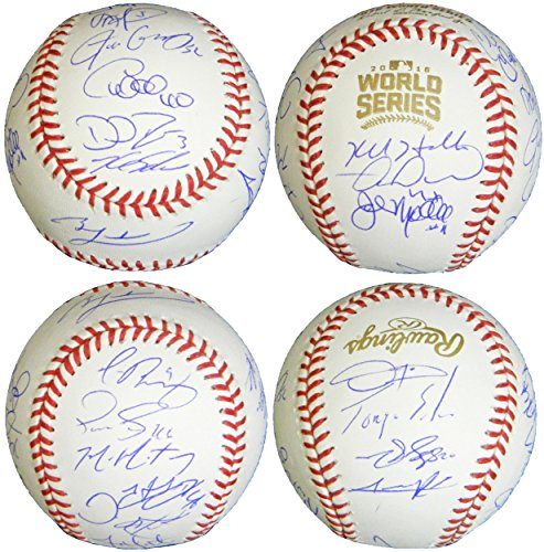 2016 Chicago Cubs Team Signed Rawlings Official 2016 World Series Baseball (21 Sigs) - Autographed - Baseball Series Team Autographed World