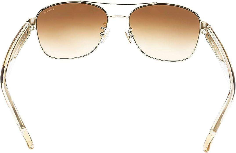 3742b7fb50 Amazon.com  Coach Womens Sunglasses (HC7064) Gold Brown Metal - Non ...