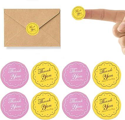 "40pcs /""Thank You/"" Kraft Paper Sticker Labels Seal Envelope Sticker Seals Decals"