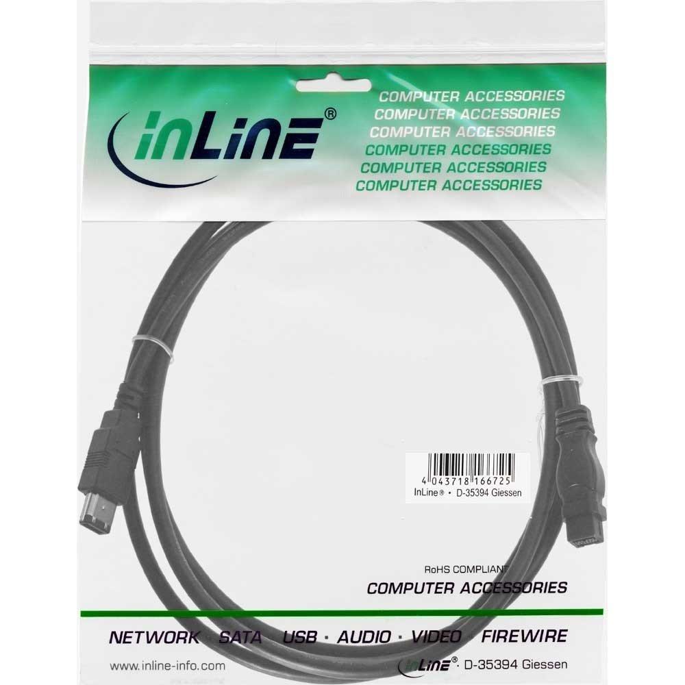 6pol//9pol Stecker Stecker InLine FireWire Kabel 1m