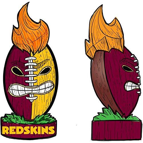(Team Sports America Washington Redskins Lit LED Team Tiki Totem Outdoor Safe Garden Statue)