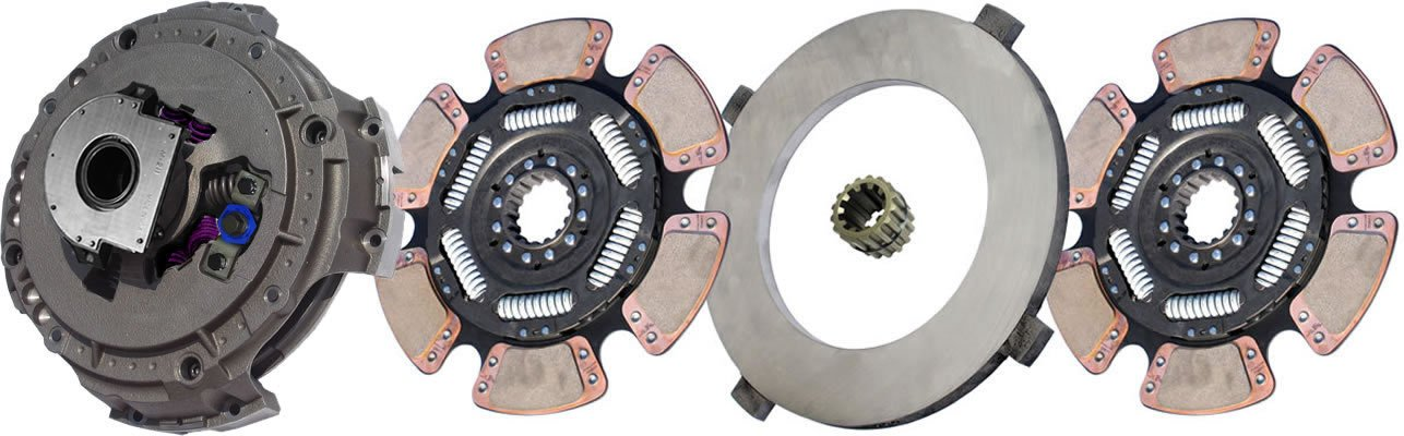 IATCO NMU898-147-9-IAT 15-1/2'' x 2'' Easy Pedal Clutch (Two-Plate, 6-Spring / 6-Paddle, 4800 PL / 3000 Torque, 3-Zerk, Includes Spline Saver)