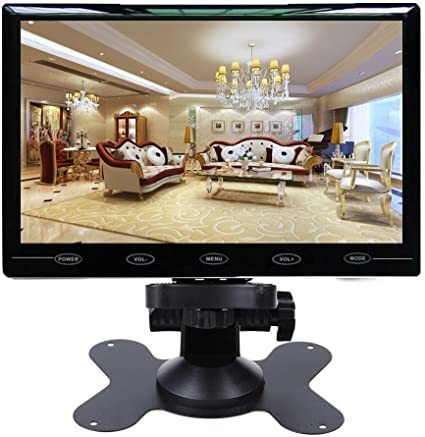 SallyBest 10.1 Inch Ultra Thin 16:9 HD 1024600 Color TFT LCD Display Headrest Monitor Touch Button Monitor Screen with AV HDMI VGA Video Input