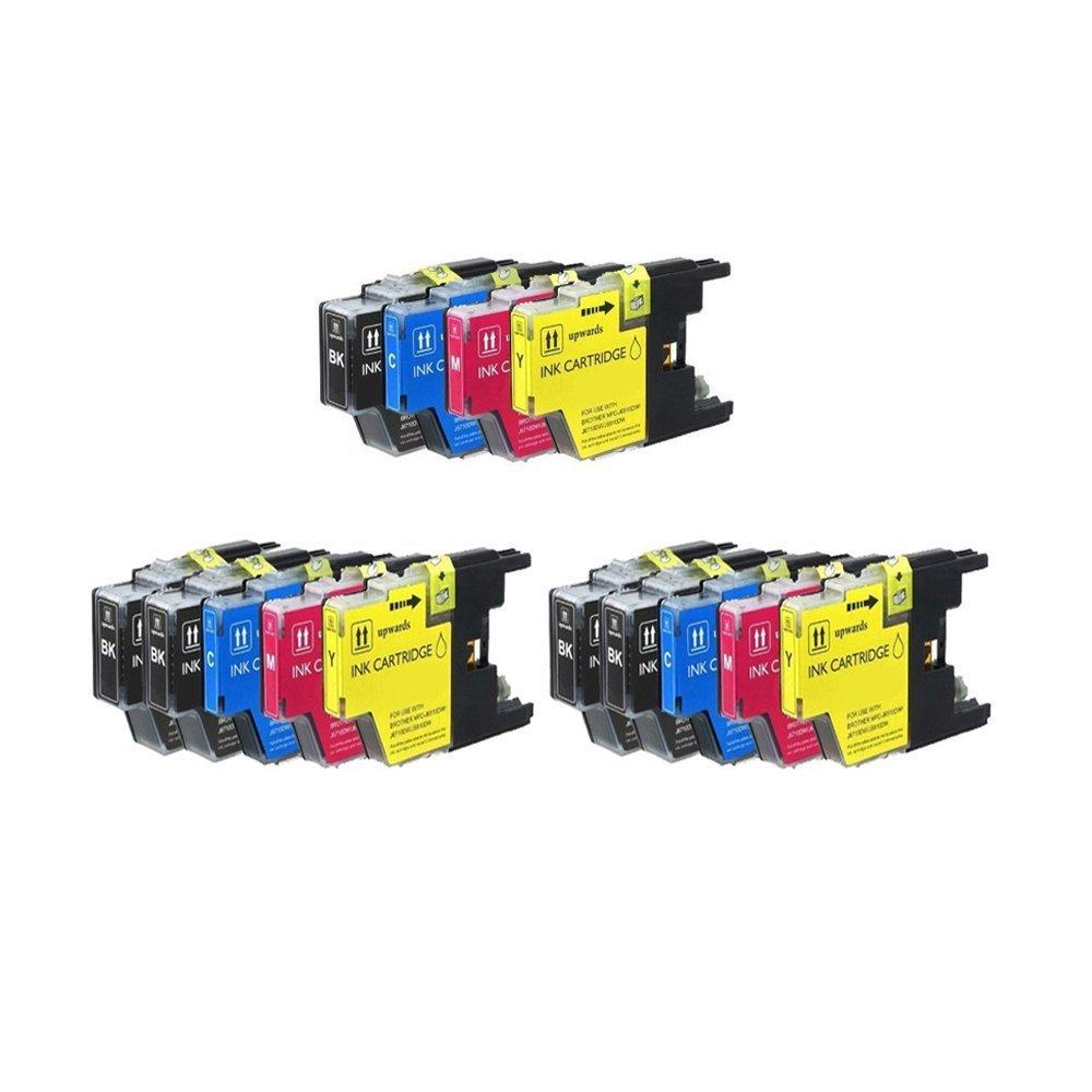 Prestige Cartridge - LC1280/LC1240 - Cartuchos de tinta compatible y con impresoras Brother MFC-J5910DW, MFC-J6510DW, MFC-J6710D, MFC-J6710DW y compatible MFC-J6910DW, color negro, cian, magenta y amarillo 25 895183