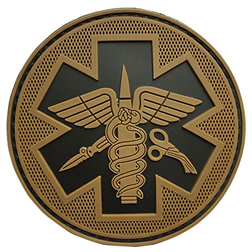 SpaceCar 3D PVC Rubber Paramedic Medic Medical Tactical Morale Badge Patch 3.15