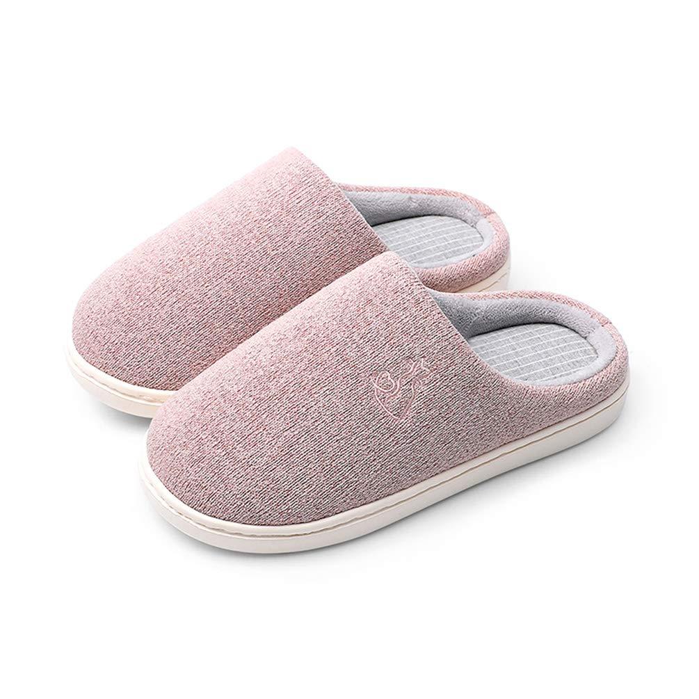6bbc5b60b263 Timland winter slippers soft memory foam washable slippers warm non slip  lightweight indoor shoes pink kitchen