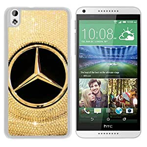 Fashionable Custom Designed Cover Case For HTC Desire 816 With Mercedes logo White Phone Case