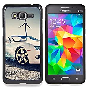 For Samsung Galaxy Grand Prime G530H G5308 - Bling Sport Scar Convertible Windmill Case Cover Protection Design Ultra Slim Snap on Hard Plastic - God Garden -