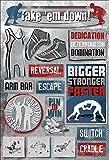 Karen Foster Design Acid and Lignin Free Scrapbooking Sticker Sheet, Take 'Em Down