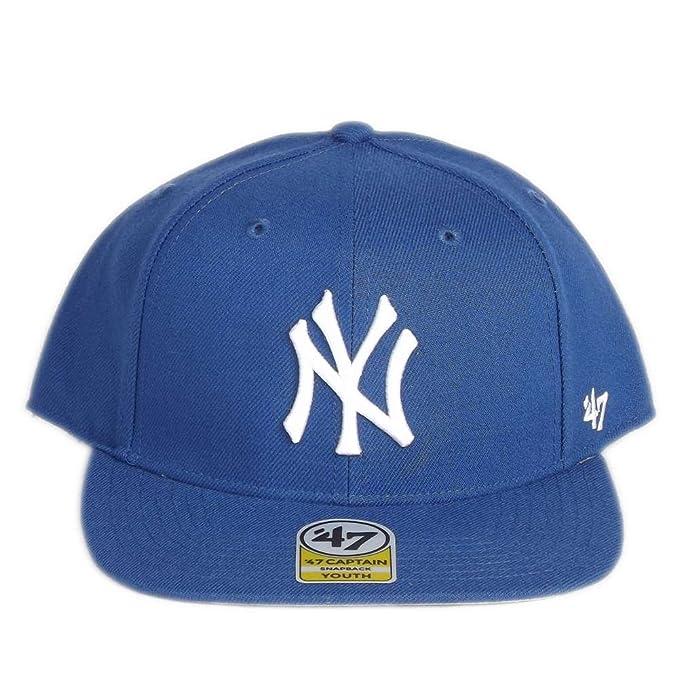 Gorra 47 Brand - Mlb New York Yankees Captain Snapback azul talla  Cadetes   Amazon.es  Ropa y accesorios 53d87b46b1b