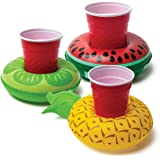 BigMouth Inc. Beverage Boats, Cupholder Floats for Pool Parties (Tropical)