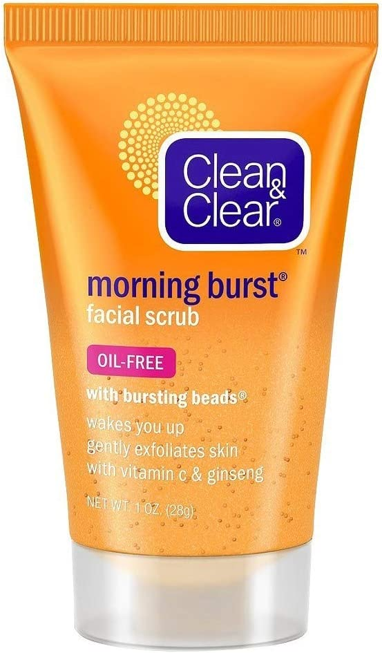 Clean & Clear Morning Burst Facial Scrub Travel Size 1 Oz. (4 Pack)