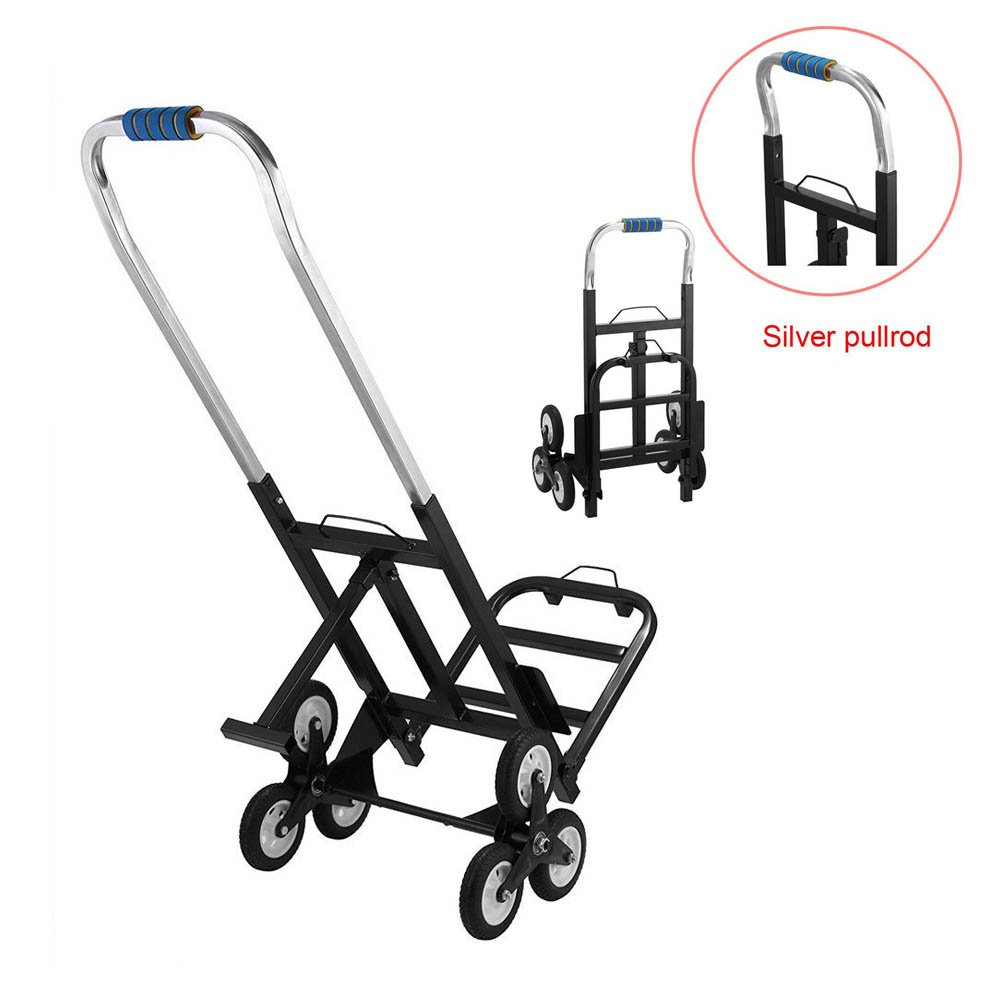 Slendor 330 LBS Capacity Portable Stair Climber Cart Hand Truck 30 Inch Folded with Three Wheels for Easy Climbing