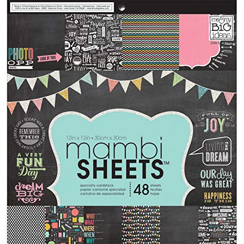 Me and My Big Ideas Paper Pad Chalkboard Doodle (6 Pack)