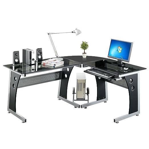 Mesa esquinera con ordenador Home mesa de oficina de esquina PC ...