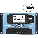 MPPT Solcellsladdningsstyrenhet 40/50/60/100A, 12 V 24 V dubbel USB solpanel batterirkontroll intelligent regulator med…
