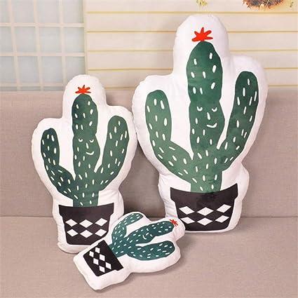 Cojín con forma de cactus de piña para niños, suave, relleno ...