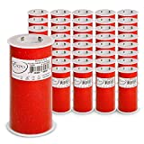 Expo International Case of 36 Glitter Tulle 6'' Spool of 25 Yards TL2404RD-36 6'' 25 Yd, Red, Piece