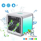 FriendShip Shop Cooling Fan- Mini Portable Personal Air Conditioner, Air Personal Space Cooler Humidifier Air Purifier USB