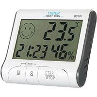 KKmoon LCD Digital Thermomètre Hygromètre de Température & Humidité Compteur Horloge Magnétique