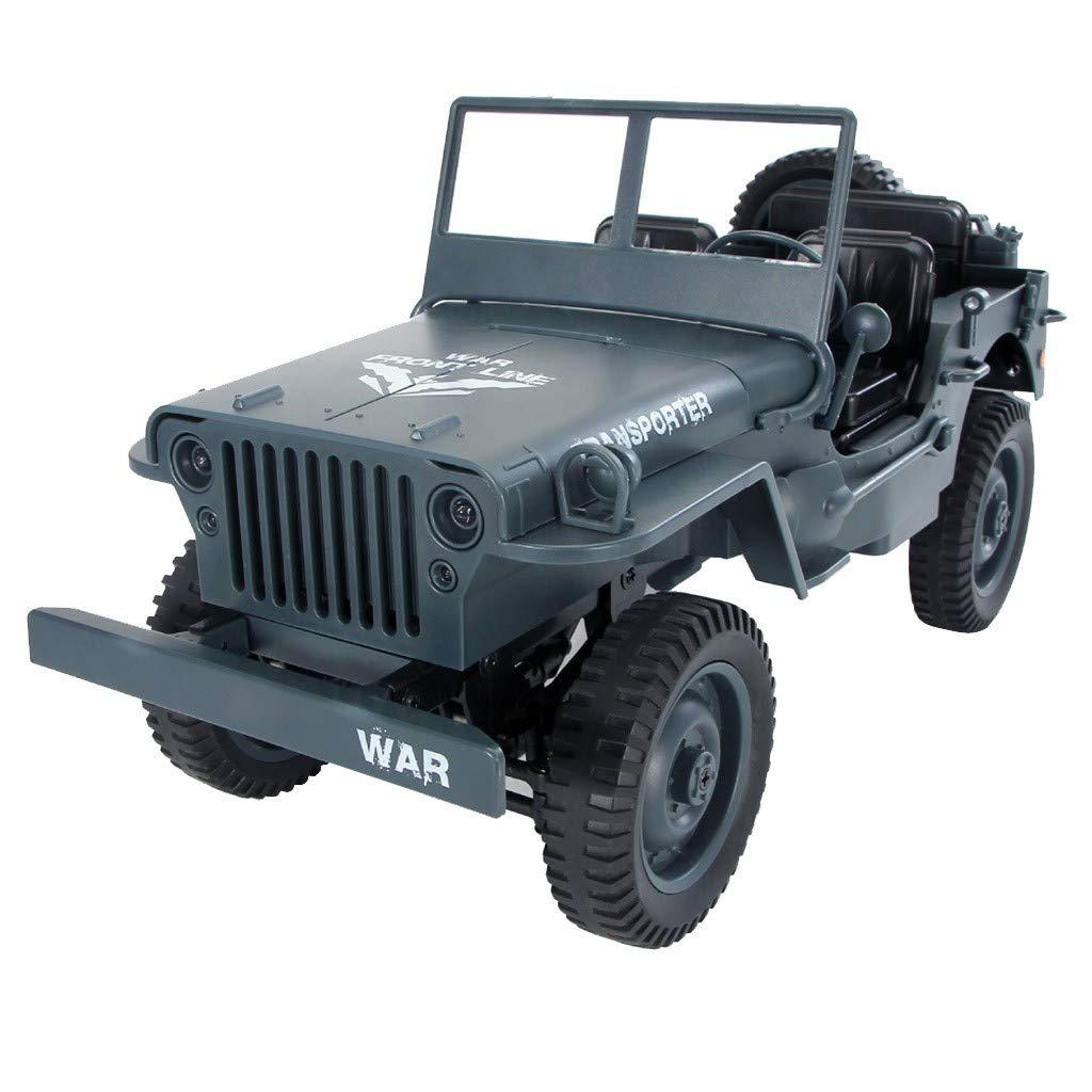 Auto klettern Jedi Cabrio Fernbedienung Auto Licht Jeep Allradantrieb Off-Road JJRC Q65 1 10 2.4G RC Open Car Militärjeep Offroad 4WD Rock Crawler RTR Spielzeug (Gelb) Blau