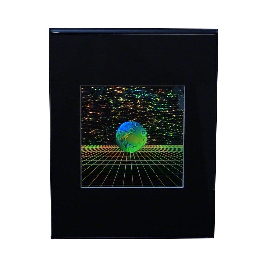 地球3dグリッドホログラムの画像、CollectibleエンボスタイプFilm  Desk Stand B079RJ9Q7S