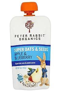 Pumpkin Tree Peter Rabbit Organics Super Oats & Seeds, Apple & Blueberry, 40 oz (Pack of 10)