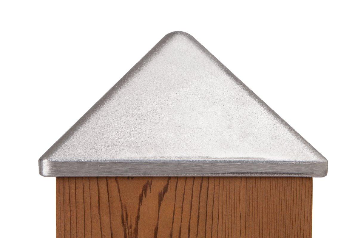 Quickcap Heavy Duty Aluminum Pyramid Post Cap 6x6 (5-1/2'' x 5-1/2'')