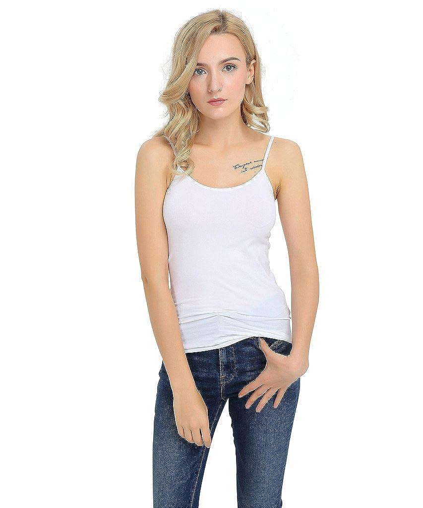 SATINATO Women's Stretch Slim Fit Camisole