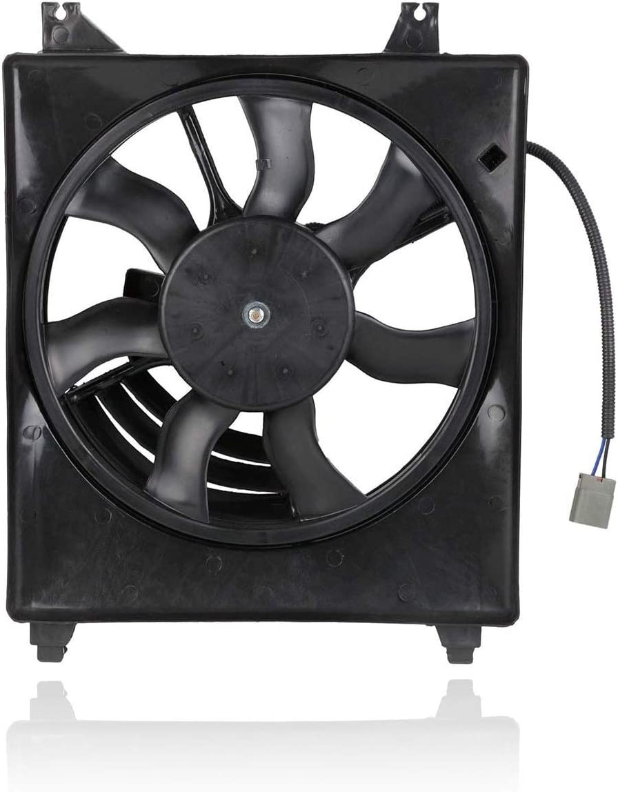 A-C Condenser Fan Assembly - Cooling Direct For/Fit 977304D900 06-10 Kia Sedona 3.8L 07-08 Hyundai Entourage