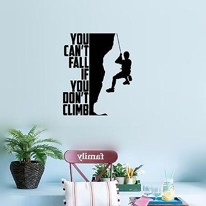 Amazon.com: earck Wall Sticker Quotes Climbing Man Vinyl Art ...