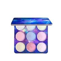 ZHUOTOP Pro Makeup 9 Colors Glitter Eyeshadow Palette Shimmer Matte Eye Shadow Face Brighten Highlighter Cosmetic Beauty
