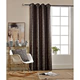 BOKO Jacquard Blackout Grommet Window Panel Curtains, 54 X 96 inches, Curtains for Bedroom, Curtains for Livingroom, Comes with a Pillow Cover in the Same Fabric