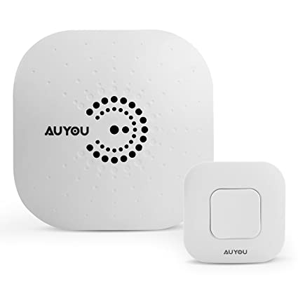 AuYou Doorbell wireless Long Range Alert System 1 Plugin Receivers