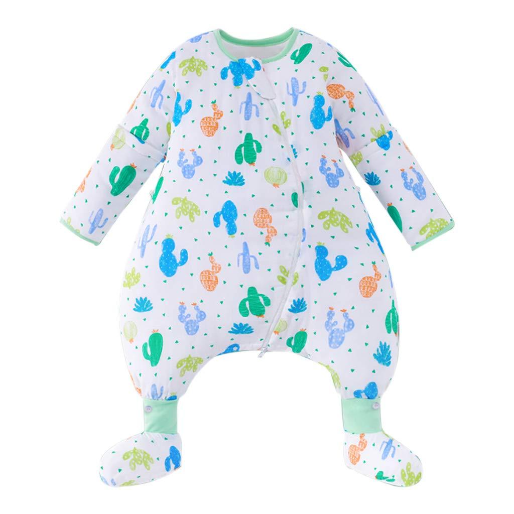 HUYP 赤ん坊の寝袋取り外し可能な袖の女の子薄い夏の冬の反蹴りの新生の反蹴りのキルト (色 : Blue D-quilted, サイズ さいず : 110 yards)   B07NV8P7WG