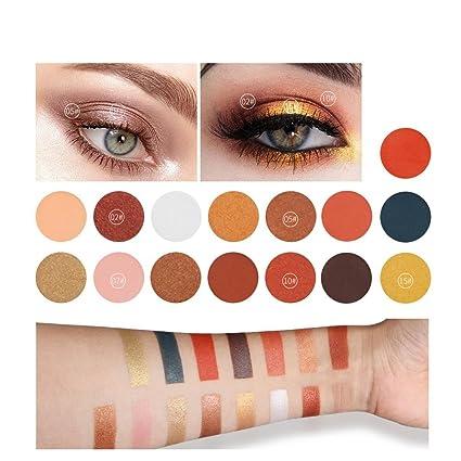 Qibest 15 Colores Sombras de Ojos Paletas de Sombras para ...